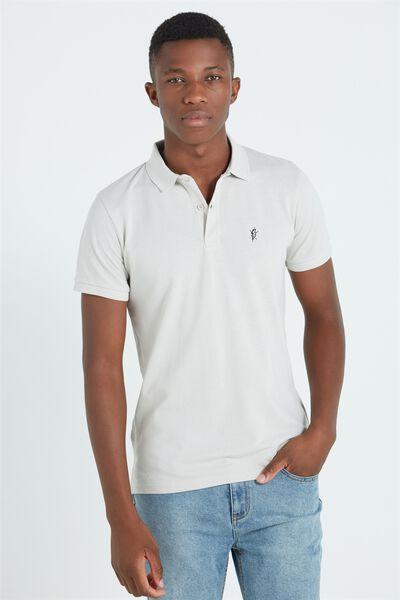 Short Sleeve Icon Polo, STONE/BOLT