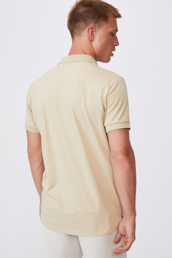 Active Short Sleeve Polo, PALE SAND