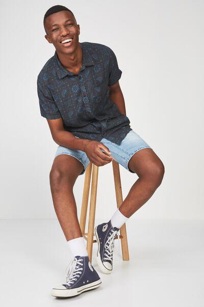 91 Short Sleeve Shirt, PAISLEY GEO