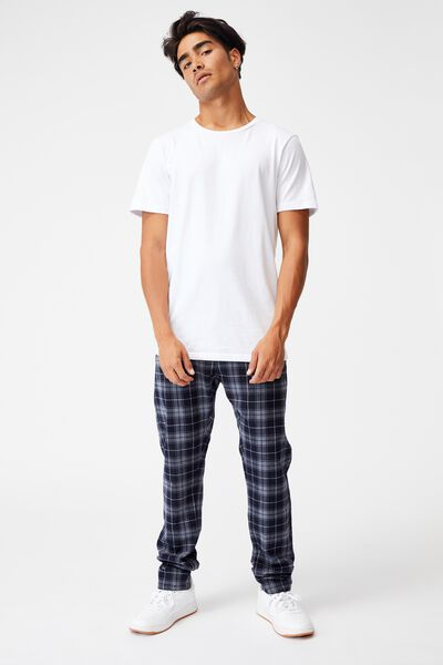 Skinny Stretch Chino, NAVY GREY CHECK