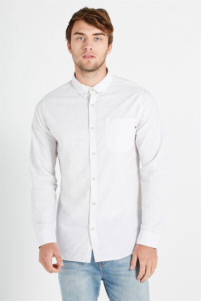 Brunswick Shirt 3, LIGHT GREY TEXTURE