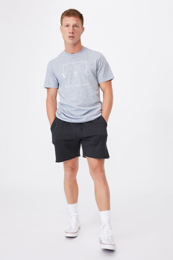 Tbar Text T-Shirt, ICE BLUE SLUB MARLE/NYC BOXED