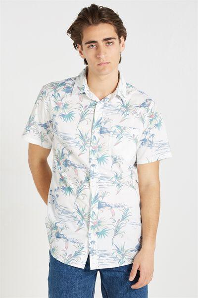 Vintage Prep Short Sleeve Shirt, MIAMI