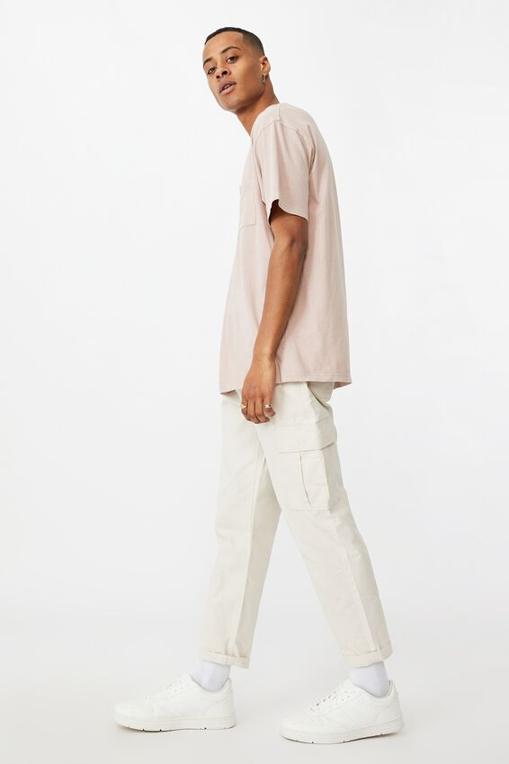 Washed Pocket T-Shirt, DIRTY PINK