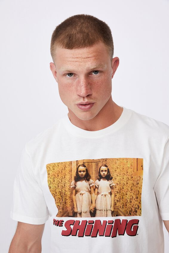 Tbar Collab Movie And Tv T-Shirt, LCN WB VINTAGE WHITE/THE SHINING - TWINS