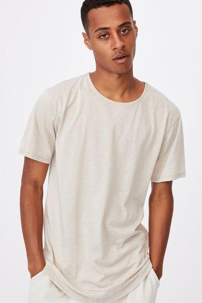 Longline Scoop Burnout T-Shirt, PALE SAND