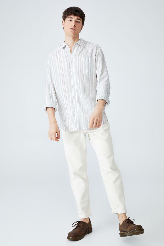 Ashby Long Sleeve Shirt, BLUE MULTI STRIPE