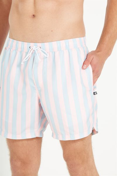 Swim Short, PINK/BLUE YACHT STRIPE