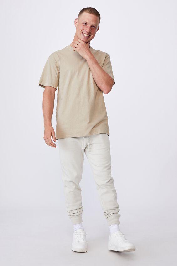 Washed Pocket T-Shirt, GRAVEL STONE