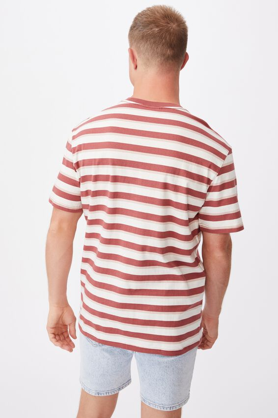 Dylan T-Shirt, OX BLOOD BOLD STRIPE