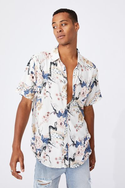 Short Sleeve Resort Shirt, CHERRY BLOSSOM