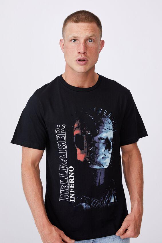 Tbar Collab Movie And Tv T-Shirt, LCN MIR BLACK/HELLRAISER-INFERNO