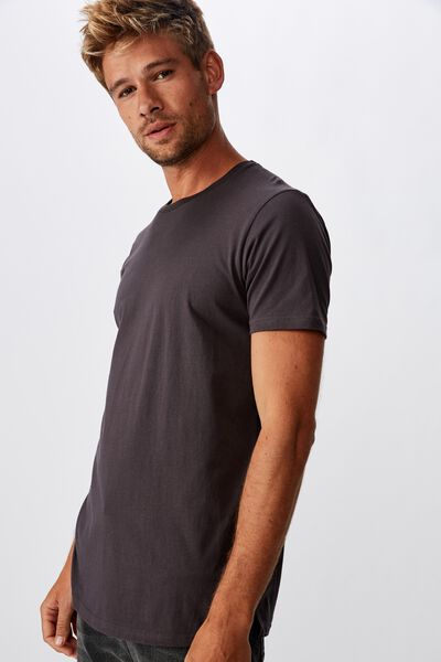 Essential Longline Curved Hem, FADED SLATE