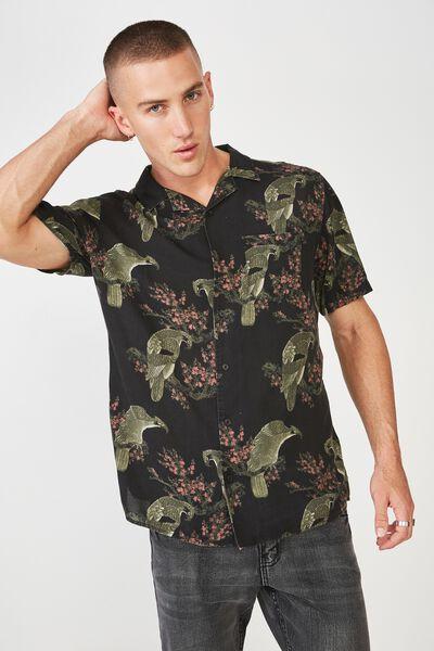 91 Short Sleeve Shirt, CHERRY BLOSSOM CRANE