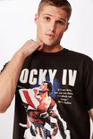 Tbar Collab Movie And Tv T-Shirt, LCN MGM WASHED BLACK ROCKY - IV