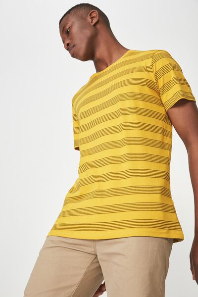 Tbar Premium Crew, GOLDEN ROD/BLACK MULTI STRIPE