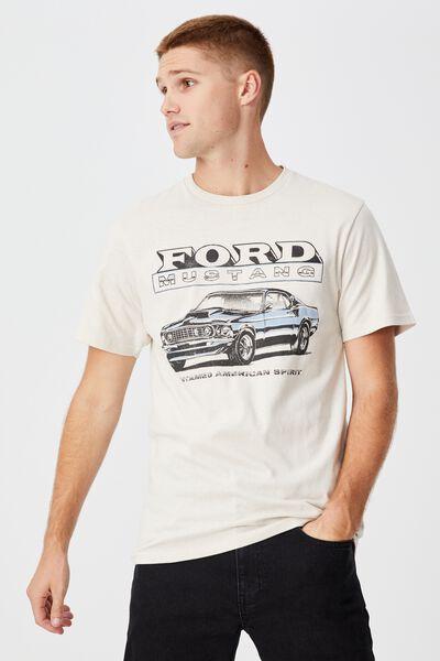 Tbar Collab Pop Culture T-Shirt, LCN FOR BONE/FORD - MUSTANG SPIRIT