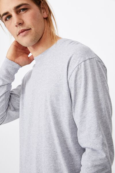 Tbar Long Sleeve T-Shirt, LIGHT GREY MARLE