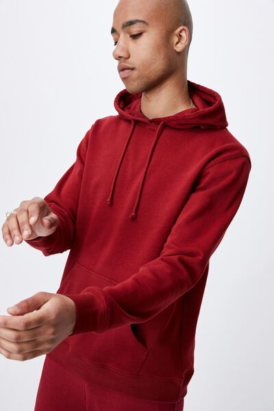 Essential Fleece Pullover, SUN DRIED RED