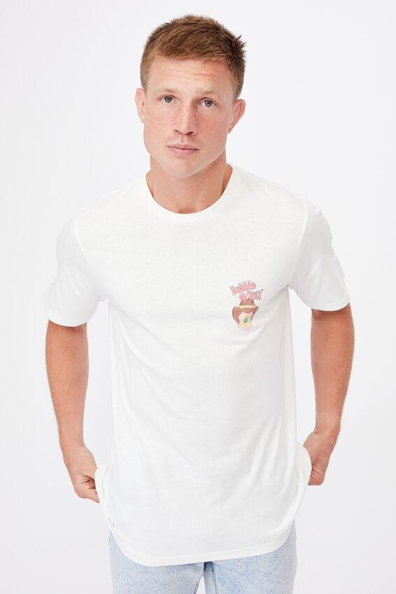 Tbar Collab Pop Culture T-Shirt, LCN STR VINTAGE WHITE/STREETS-BUBBLE O BILL