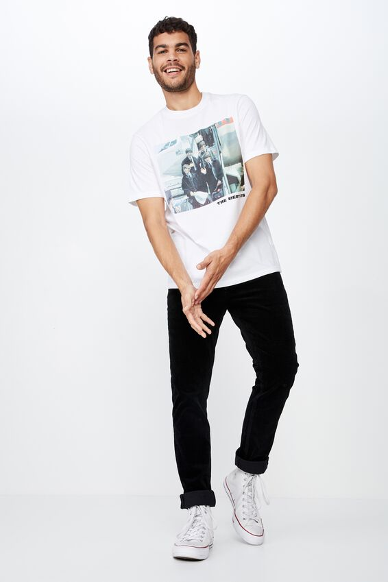 Tbar Collab Music T-Shirt, LCN APP WHITE/THE BEATLES - PLANE