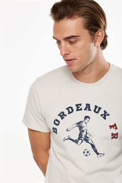 Tbar Tee 2, WASHED WHITE/BORDEAUX FR