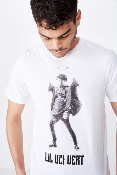 Tbar Collab Music T-Shirt, LCN WMG WHITE/LIL UZI VERT - DEVIL