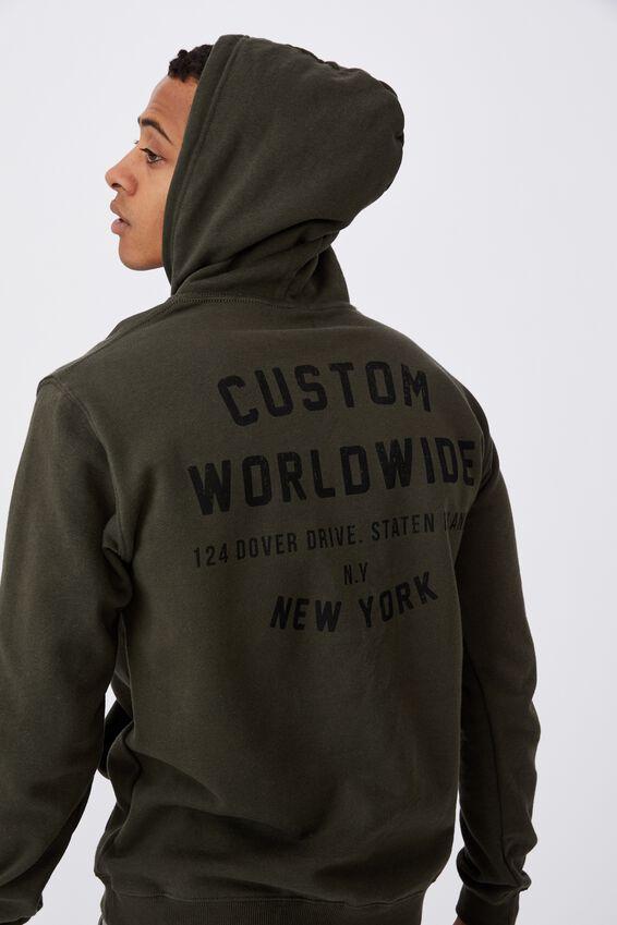 Fleece Pullover 2, DUFFLE GREEN CUSTOMS WORLDWIDE