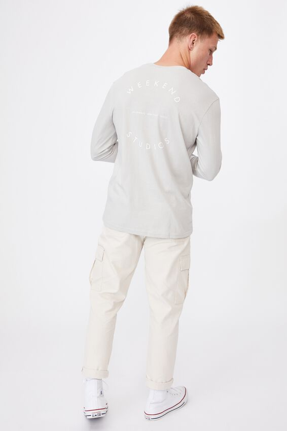 Tbar Long Sleeve T-Shirt, SMOKE/WEEKEND STUDIO CIRCLE