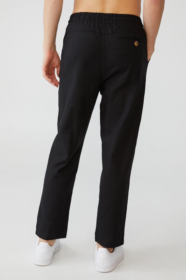 East Coast Textured Pant, BLACK