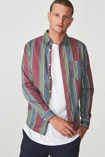 Troubadour Shirt, INDIGO BURG STRIPE