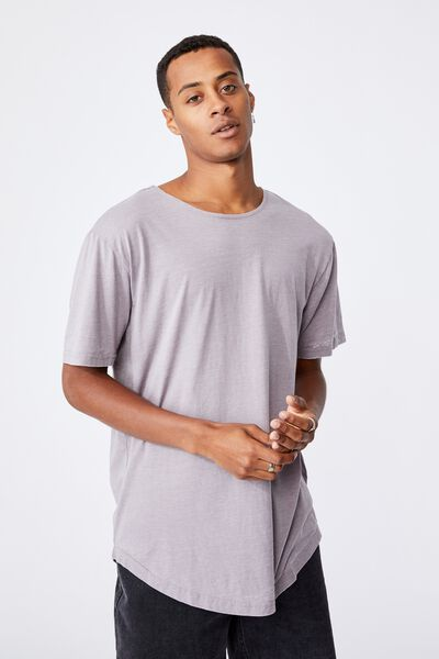 Longline Scoop Burnout T-Shirt, WASHED BRICK