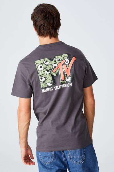 Tbar Collab Pop Culture T-Shirt, LCN MTV FADED SLATE/MTV - EYEBALL LOGO
