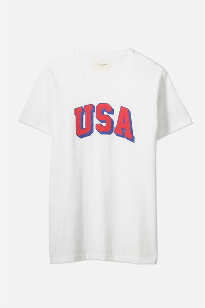 Tbar Tee 2, WHITE SLUB/USA BLOCK