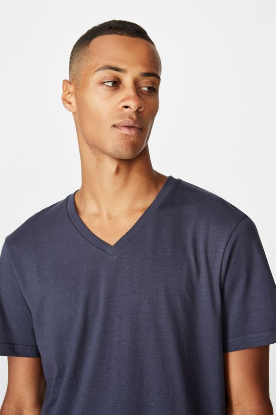Essential Vee Neck T-Shirt, TRUE NAVY