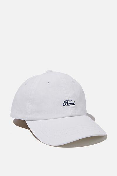Ford Dad Hat, LCN FOR WHITE/FORD LOGO