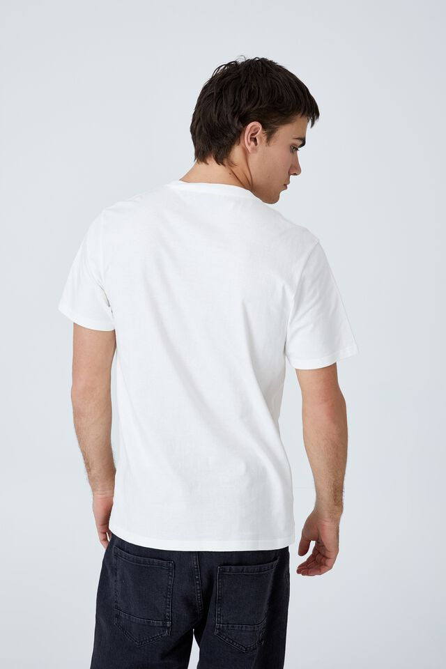 Tbar Collab Pop Culture T-Shirt, LCN SON VINTAGE WHITE/GOOSEBUMPS - ONE DAT AT