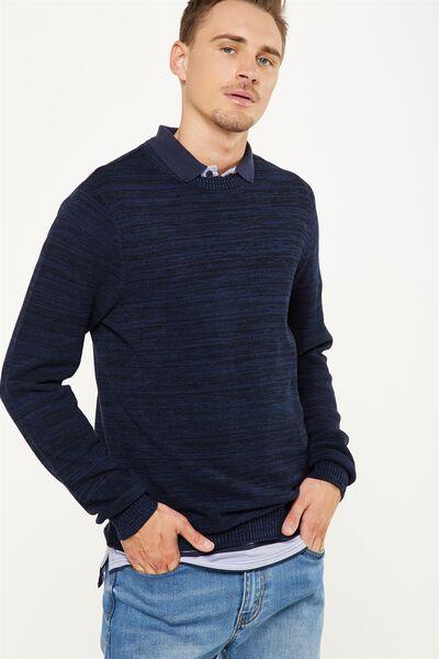 Lightweight Crew Sweater, NAVY
