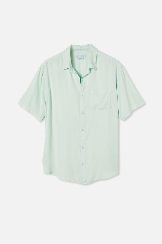 Cuban Short Sleeve Shirt, SEAFOAM GREEN