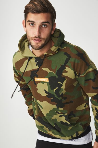 Drop Shoulder Pullover Fleece, SPICE CAMO/UNTITLED NO 7