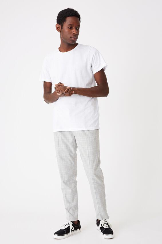 Oxford Trouser, LIGHT GREY WHITE CHECK