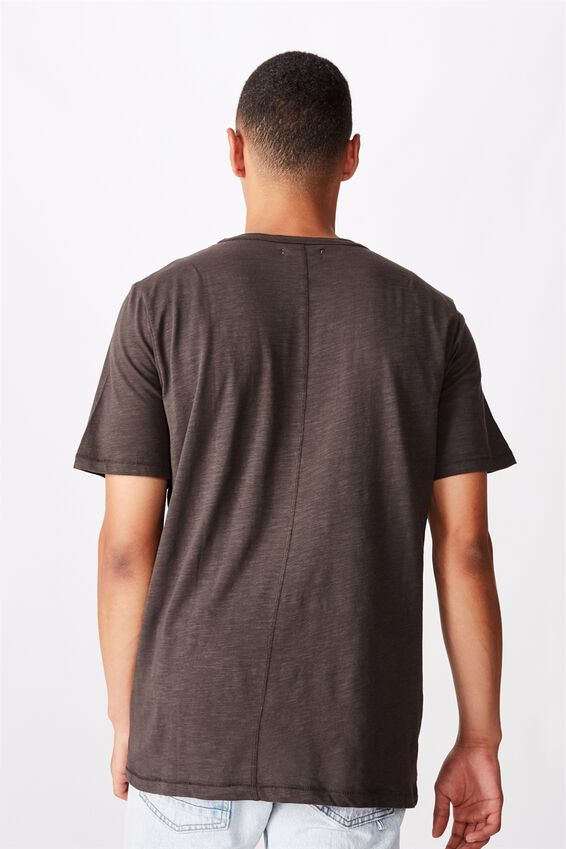 Slub Grandad Tee, WASHED BLACK