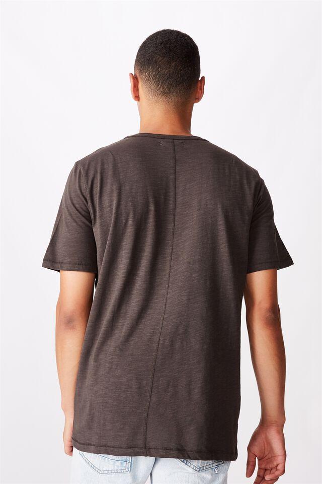 Slub Henley T-Shirt, WASHED BLACK