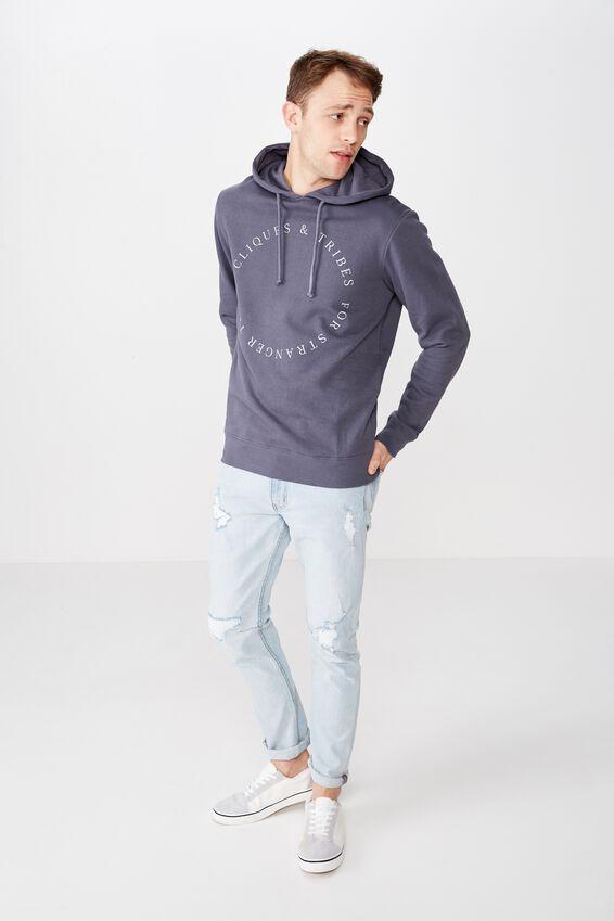 Fleece Pullover 2, LATE NIGHT BLUE/FOR STRANGER TIMES