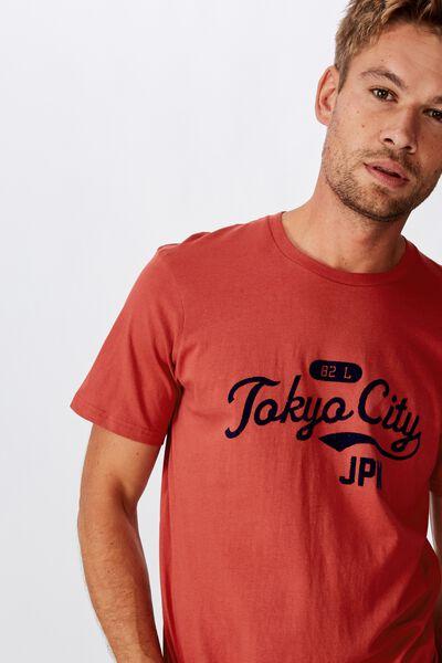 Tbar Cny T-Shirt, RACE RED/TOKYO CITY 82