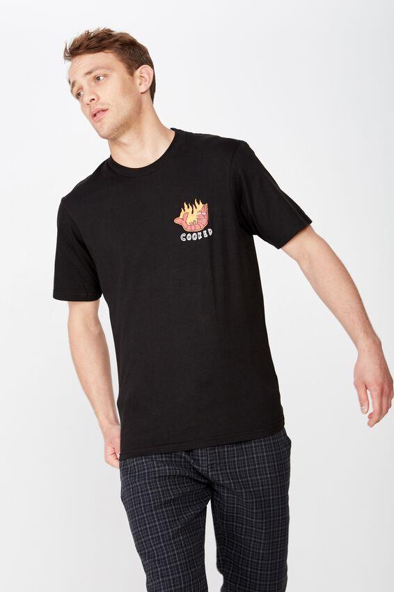 Tbar Art T-Shirt, SK8 BLACK/COOKED