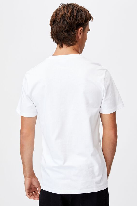 Tbar Text T-Shirt, WHITE/BRKLYN SQUARE