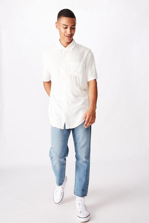 91 Short Sleeve Shirt, WHITE