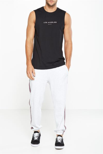 Classic Track Jogger, ATHLETIC MARLE/SPORTS STRIPE
