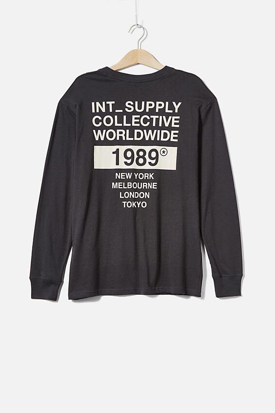 Tbar Long Sleeve, FADED SLATE/COLLECTIVE 1989
